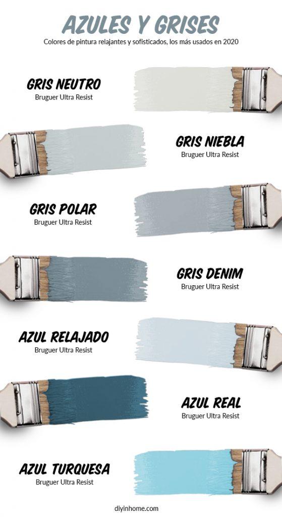 mejores colores grises y azules de 2020