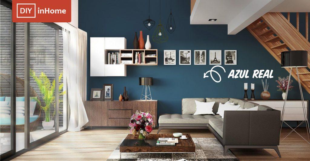 pintura color azul marino azul real