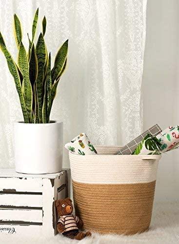cesta de yute para decorar